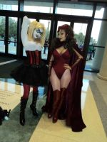Harley Quinn and Scarlet Witch Megacon 2012 by Trunkophilia
