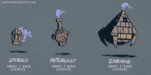 Fakemon - Stoneghosts by Bummerdude
