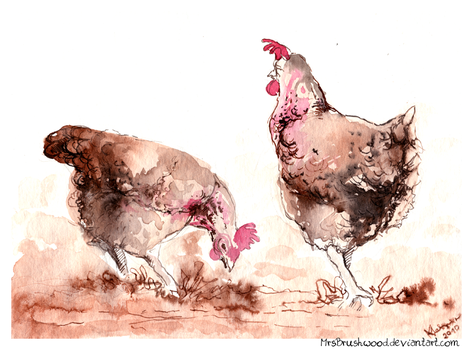 Hens by MrsBrushwood