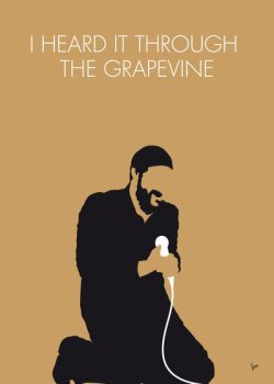 No060 MY MARVIN GAYE Minimal Music poster by Chungkong