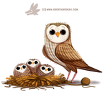 Daily Paint 1309. Yarn Owl by Cryptid-Creations
