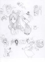 TGA and AW8 Doodle Page 1 by Angelwing8