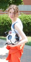 JaFax Day 2 Portal 2 Chell by FrogDailey