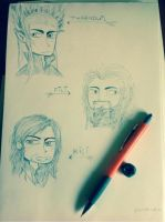 Hobbit doodles by joannawentbananas