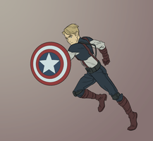 Captain Avenger by TheAmoebic