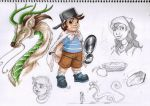 The Little Dragon Hunter - Sketches by Wazaga