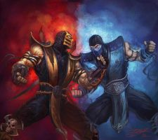 Scorpion VS Subzero by HeeWonLee