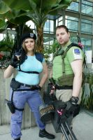 Jill Valentine and Chris Redfield by abisue