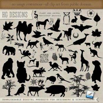 PS Brushes: Plants And Animals by HGGraphicDesigns