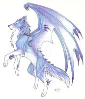 Ice Demon Wolf by CaptainMorwen