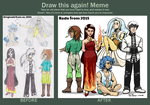 Draw this again: Gods of the five Elements by TariToons