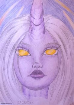 ~ Soraka portrait ~ by LiseWasTaken