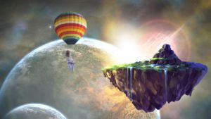 Planet Rise View by Z0mbietoaster