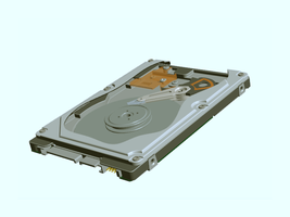 3D Laptop SATA Hardrive, Adobe by SDGstar1