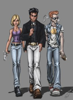 Preacher, Tulip and Cassidy by AdamWithers