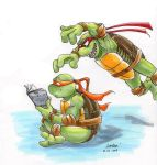 TMNT: Raph's a big fat meanie by loolaa