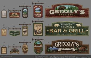 The Last of Us - Grizzly Bar Logo by DeivCalviz