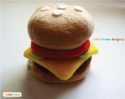 Mini Cheese burger plush by manriquez