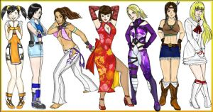 Tekken Girls by Wakamoley