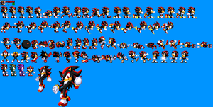 Shadow in Sonic 1 by mike1967-now