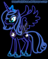 Princess Luna Neon by Tailsik208