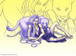 Kitty cats by spectr00m