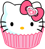 Hello Kitty Cupcake - Sarry Eyed Style by SayurixSama
