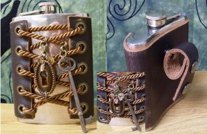 Steampunk Corset Flask by Justenjoyinglife