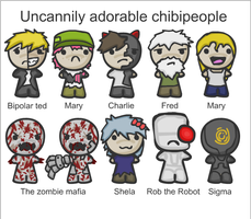 Uncannily Adorable Chibipeople by ShadowStarry