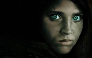 The Afghan Girl by amitrichard