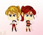 Elza and Claire Chibi by Soraya-Mendez