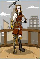 Steampunk Miner Character by SomewhatSavvy