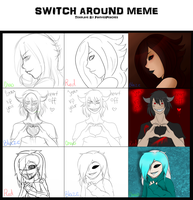 [Collab] Switch Around Meme by Chaotic-Senpai