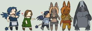 Chibi Heroes by Legend-of-Genii
