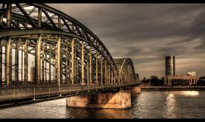 Bridge over Rhein by sylaan