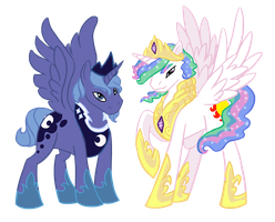 Princes Malestia and Umbra by GroundedGypsy