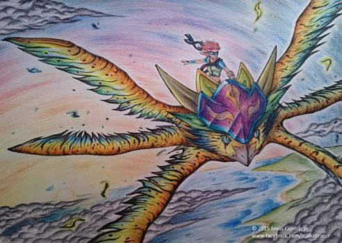 Through the sky /Traditional art/ by Renow54