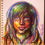Marker Rainbow Face by alisagirard