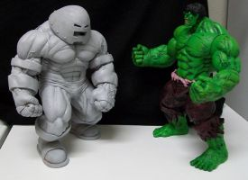 Hulk vs. Juggernaut by sup3rs3d3d