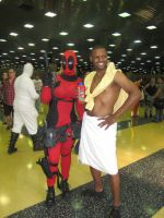 Deadpool N I'm on a horse by versidian