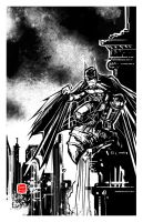 Batman, protector of Gotham by SeanLenahanSD