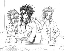 Lineart AGTL : Hades and co by Devileve
