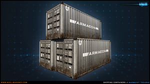 [Game Art] - Battlefield 3 Style Containers by Tafari-Studios