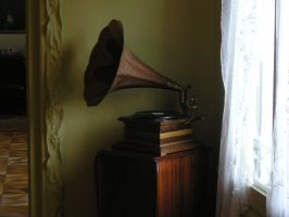old gramophone by maladie-stock