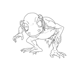 Gollum Line Art by imago3d