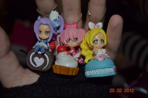Suite Precure Keychains by CandySkitty