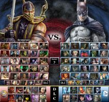 My Mortal Kombat vs. DC Universe Roster by sprite-genius