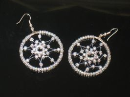 Clear dreamcatcher-earrings by Selenere