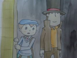 watercolor layton by Spongebobluvr66