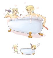 Bubbles and Bathtime - omake by marimo-lover